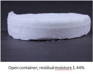Open container residual moisture
