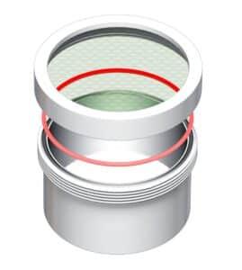 Zeichnung Lyoprotect® Becher für die Gefriertrocknung